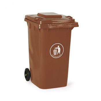 Plastová popelnice 240 litrů, hnědá