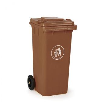 Plastová popelnice 120 litrů, hnědá