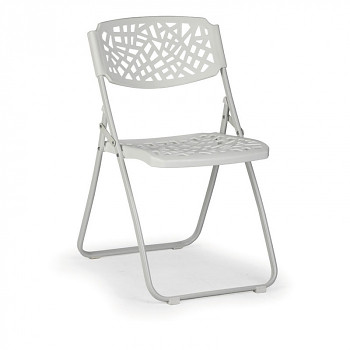 Skládací židle METRIC bílá