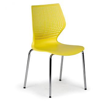 Jídelní židle POLY žlutá