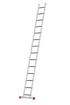 Hliníkový žebřík opěrný jednodílní 14 příček