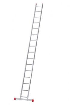 Hliníkový žebřík opěrný jednodílní 16 příček
