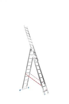 Hliníkový žebřík výsuvný trojdílný 3x11 příček, 7,18 m