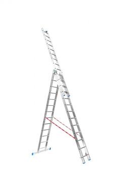 Hliníkový žebřík výsuvný trojdílný 3x13 příček, 8,22 m