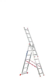 Hliníkový žebřík výsuvný trojdílný 3x 7 příček, 4,24 m