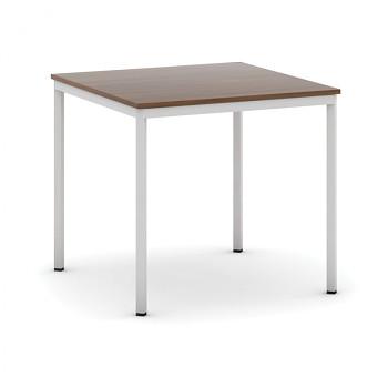Jídelní stůl  800x 800x 735, ořech, podnož světle šedá, JHN