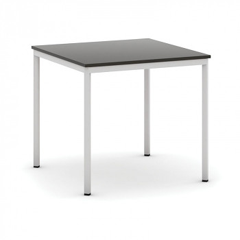 Jídelní stůl  800x 800x 735, wenge, podnož světle šedá, JHN