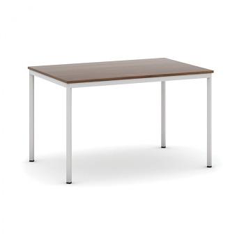 Jídelní stůl 1200x 800x 735, ořech, podnož světle šedá, JHN