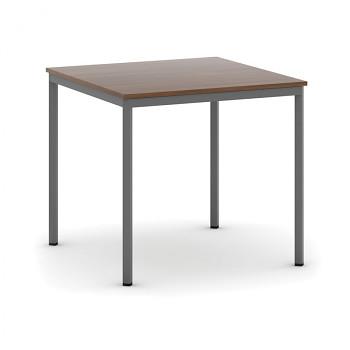 Jídelní stůl  800x 800x 735, ořech, podnož tmavě šedá, JHN