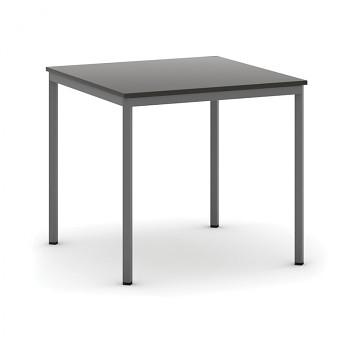 Jídelní stůl  800x 800x 735, wenge, podnož tmavě šedá, JHN