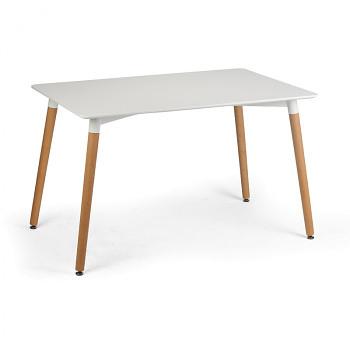 Jídelní stůl 1200x 800x 730, bílá deska, MDF