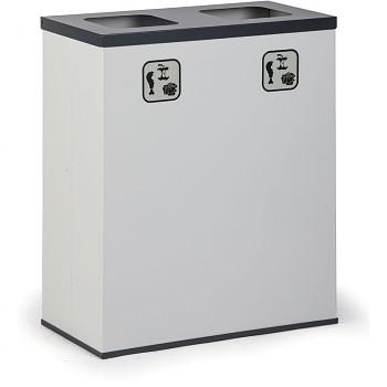 Koš na tříděný odpad   2x 50 l, AL