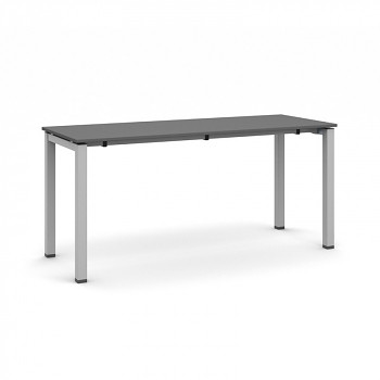 Jednací stůl 1600x 600x 745, antracit, podnož šedá, AIR
