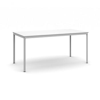 Jídelní stůl 1600x 800x 735, bílá, podnož světle šedá, JHN