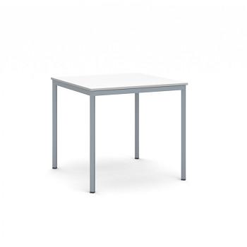 Jídelní stůl  800x 800x 735, bílá, podnož tmavě šedá, JHN