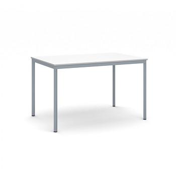Jídelní stůl 1200x 800x 735, bílá, podnož tmavě šedá, JHN