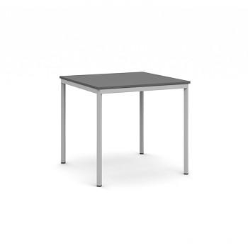 Jídelní stůl  800x 800x 735, antracit, podnož světle šedá, JHN