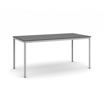 Jídelní stůl 1600x 800x 735, antracit, podnož světle šedá, JHN