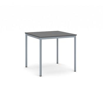 Jídelní stůl  800x 800x 735, antracit, podnož tmavě šedá, JHN