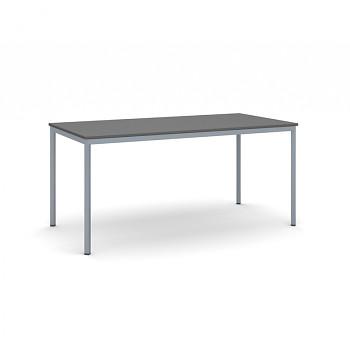 Jídelní stůl 1600x 800x 735, antracit, podnož tmavě šedá, JHN