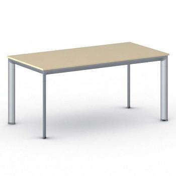 Jednací stůl 1600x 800x 740, bříza, podnož šedá, INVITATION