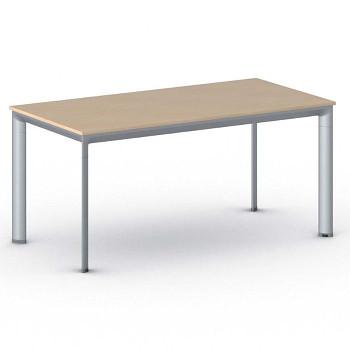 Jednací stůl 1600x 800x 740, buk, podnož šedá, INVITATION