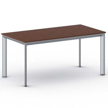 Jednací stůl 1600x 800x 740, třešeň, podnož šedá, INVITATION