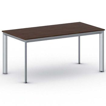 Jednací stůl 1600x 800x 740, ořech, podnož šedá, INVITATION