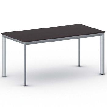 Jednací stůl 1600x 800x 740, wenge, podnož šedá, INVITATION