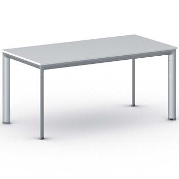Jednací stůl 1600x 800x 740, bílá, podnož šedá, INVITATION