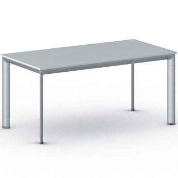 Jednací stůl 1600x 800x 740, šedá, podnož šedá, INVITATION