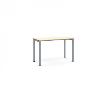 Jednací stůl 1200x 600x 750, bříza, podnož šedá, SQUARE