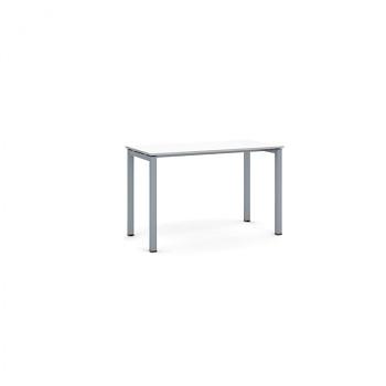 Jednací stůl 1200x 600x 750, bílá, podnož šedá, SQUARE