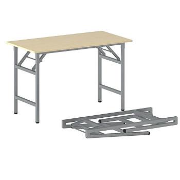 Konferenční stůl 1100x 500x 750, bříza, podnož šedá, FAST READY