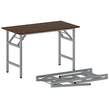 Konferenční stůl 1100x 500x 750, ořech, podnož šedá, FAST READY