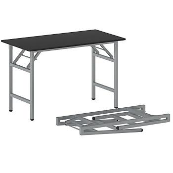 Konferenční stůl 1100x 500x 750, antracit, podnož šedá, FAST READY
