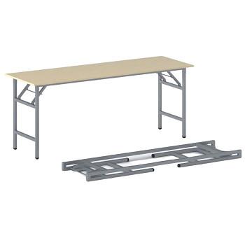 Konferenční stůl 1700x 500x 750, bříza, podnož šedá, FAST READY