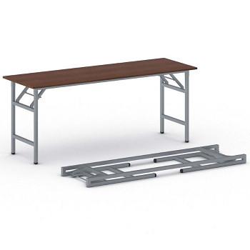 Konferenční stůl 1700x 500x 750, třešeň, podnož šedá, FAST READY