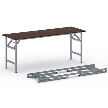 Konferenční stůl 1700x 500x 750, ořech, podnož šedá, FAST READY