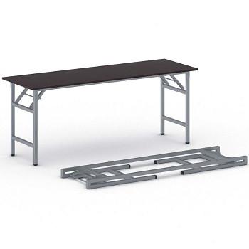 Konferenční stůl 1700x 500x 750, wenge, podnož šedá, FAST READY