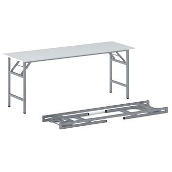 Konferenční stůl 1700x 500x 750, bílá, podnož šedá, FAST READY