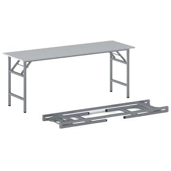 Konferenční stůl 1700x 500x 750, šedá, podnož šedá, FAST READY
