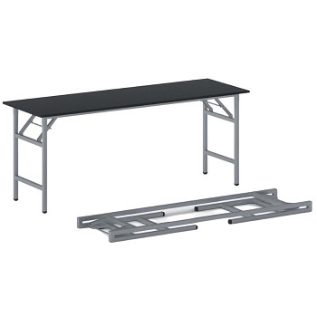 Konferenční stůl 1700x 500x 750, antracit, podnož šedá, FAST READY