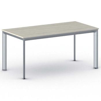 Jednací stůl 1600x 800x 740, dub přírodní, podnož šedá, INVITATION