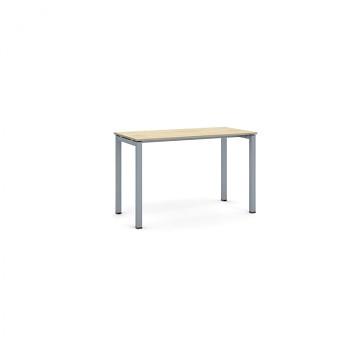 Jednací stůl 1200x 600x 750, dub přírodní, podnož šedá, SQUARE