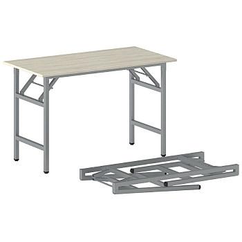 Konferenční stůl 1100x 500x 750, dub přírodní, podnož šedá, FAST READY