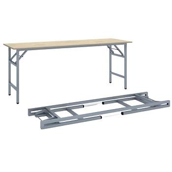 Konferenční stůl 1700x 500x 750, dub přírodní, podnož šedá, FAST READY