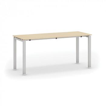 Jednací stůl 1600x 600x 745, dub přírodní, podnož šedá, AIR