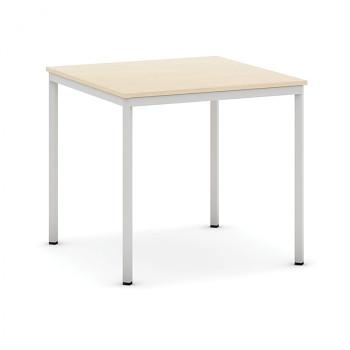 Jídelní stůl  800x 800x 735, dub, podnož světle šedá, JHN