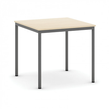 Jídelní stůl  800x 800x 735, dub, podnož tmavě šedá, JHN